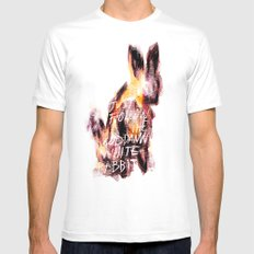 Lewis Carroll SMALL Mens Fitted Tee White