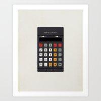 Vintage Calculator Serie… Art Print
