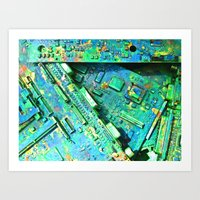 ELECTRIC LAND Art Print