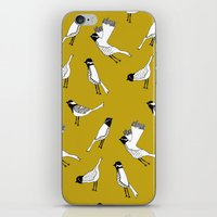 Bird Print - Mustard Yellow iPhone & iPod Skin