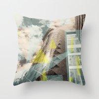 Blue & Crystal Throw Pillow
