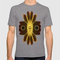 OWL SOUL Mens Fitted Tee Tri-Grey SMALL