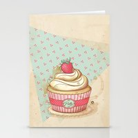 My Vintage Cupcake Stationery Cards