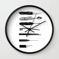 Prison Shanks Wall Clock