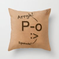 Pirates Have Emoticons, Too Throw Pillow