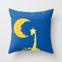 The Delicious Moon Chees… Throw Pillow
