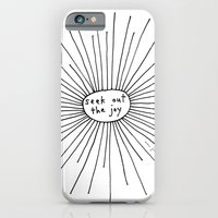 iPhone Cases featuring seek out the joy by Marc Johns
