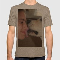 ATTN: DOG LOVERS Mens Fitted Tee Tri-Coffee SMALL