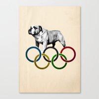 British Bulldog - Olympics London 2012 Canvas Print