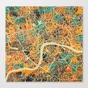 London Mosaic Map #3 Canvas Print