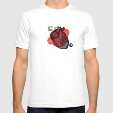 Listen to your heart Mens Fitted Tee SMALL White