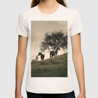 Caballos Womens Fitted Tee Natural SMALL