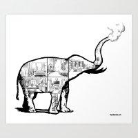 Elephant House Art Print