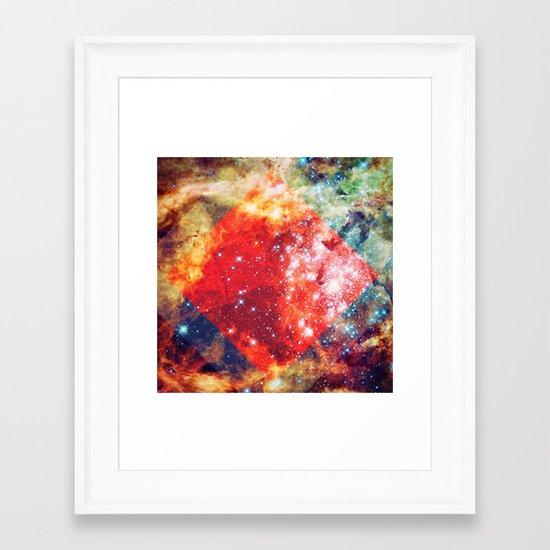 Stars on Fire Framed Art Print