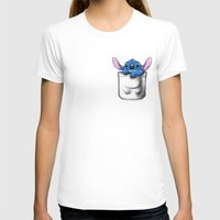 Pocket 626 Womens Fitted Tee White SMALL