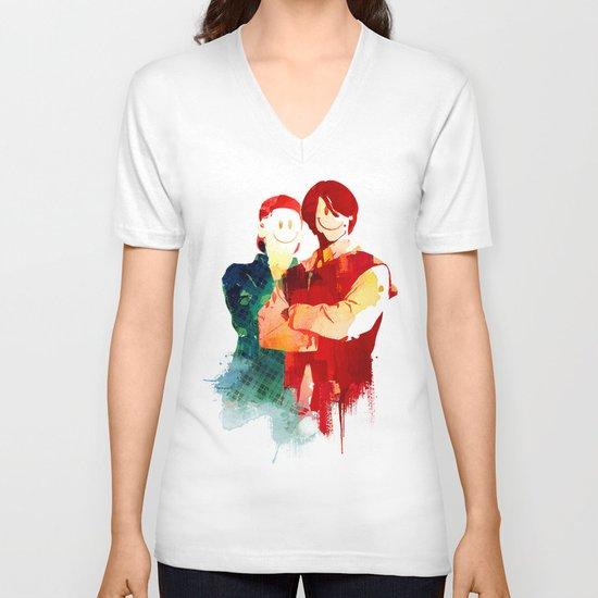 Time Travellers V-neck T-shirt