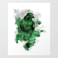 Eagle- Green Art Print