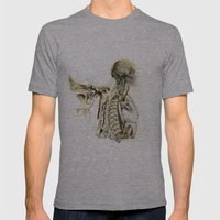 bones Mens Fitted Tee Athletic Grey SMALL