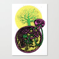 Hanging tree color change-up Canvas Print
