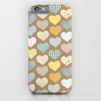 iPhone & iPod Case featuring hearts pattern by flying bathtub