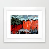 Stained Glass Water Framed Art Print