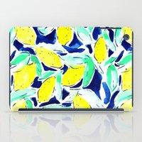 Bold Lemons Blue iPad Case