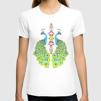 peacock T-shirts featuring peacock by Manoou