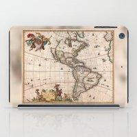 1658 Visscher Map Of Nor… iPad Case