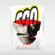 Ego trip · Enjoy yourself (white version) Shower Curtain