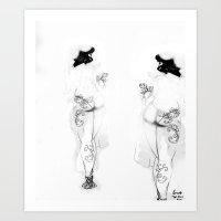 White Designs [Digital Figure Illustration] Art Print