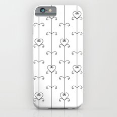 Black & White Hearts Slim Case iPhone 6s