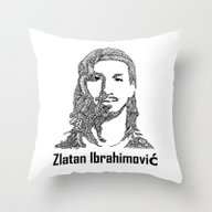 Throw Pillow featuring Zlatan  by Christoph_loves_draw…