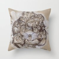 Protecting the Delicate Things Throw Pillow