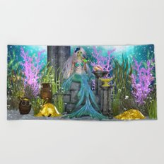 Mermaid Treasure Beach Towel