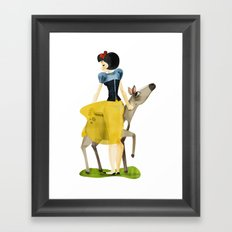 Snow white Framed Art Print