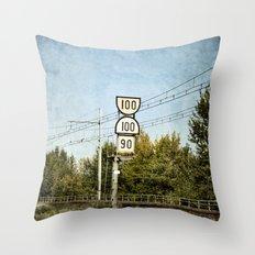 100 100 90 Throw Pillow