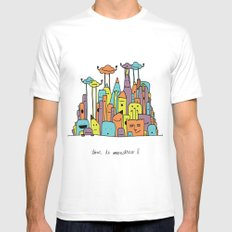 Monster Tower II Mens Fitted Tee SMALL White