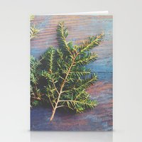 Hemlock on Blue Table Stationery Cards