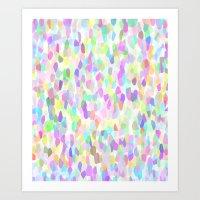 Pastell Pattern Art Print