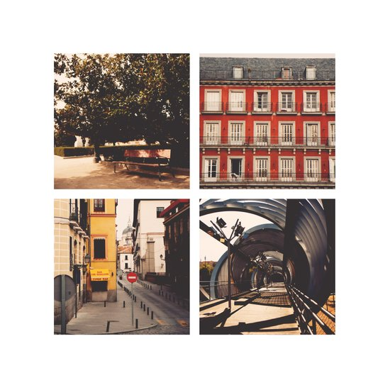 Madrid's lines Art Print