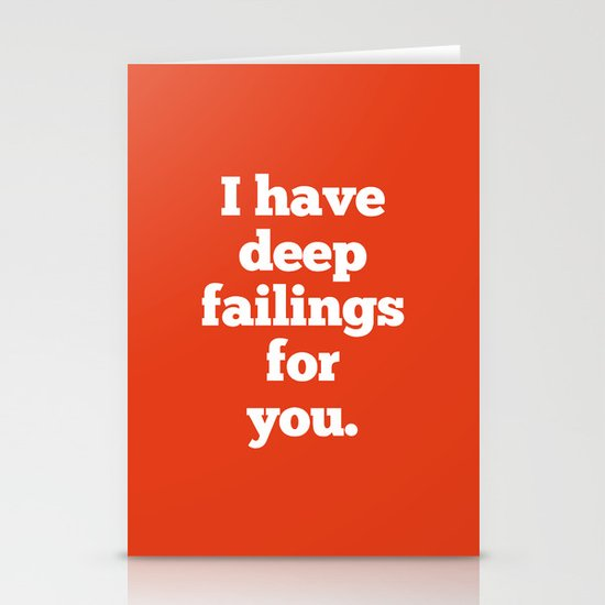 Deep Failings For You Stationery Card
