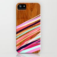 Wooden Waves Coral iPhone (5, 5s) Slim Case