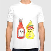 Condiment Friendship Mens Fitted Tee White SMALL