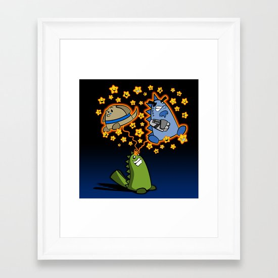 Candy the Magic Dinosaur Framed Art Print