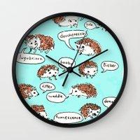 Hedgehogs Say Funny Thin… Wall Clock
