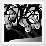 Oriental Women Art Print