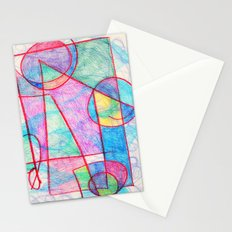 Pinks and Blues Stationery Cards