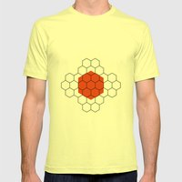 HEXAGON Mens Fitted Tee Lemon SMALL