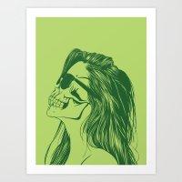 Skull Girl 2 Art Print
