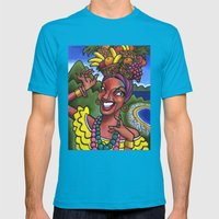 That Girl from Rio (Carmen Miranda) Mens Fitted Tee Teal SMALL